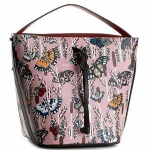 Furla *VERY RARE* Vittoria Butterfly Bucket Bag
